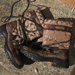 Coach Sela waterproof snow boots-size 9